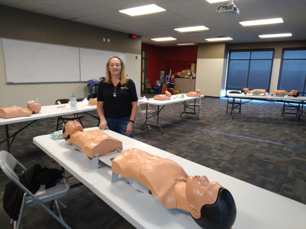 Nurse Lisa was preparing for CPR early this morning.